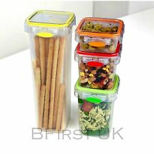 Set of 4 Airtight Leak Proof Canister Jar Storage for Dry Fruit Food Herb Spices