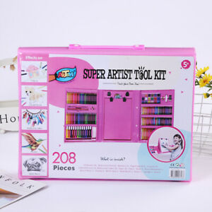 Party gifts for kids, 208 Pcs Pink Art Sketching And Drawing, creativity present