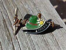 Vintage Oktoberfest Hiking German Bavarian Ski Hat Pin Linau