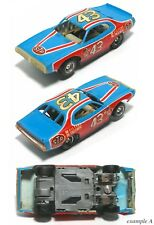 1978-79 TYCO Petty Dodge Charger HO Slot Car LITE Blue LARGE Wheel Wells 6937 A