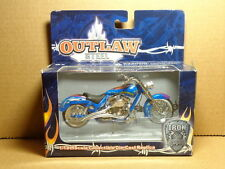 1:18 SCALE OUTLAW STEEL MOTORCYCLE COLOR BLUE TOY ZONE