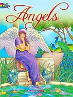 Coloring Book For Adults Beautiful Angels Stress Therapy Relief Grownups Fun NEW