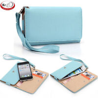 Universal Smart Phone Wristlet Wallet Carry Case Cover w/ Strap for LG Nexus 4