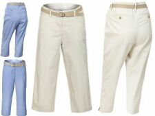 Cotton Regular Capri, Cropped Trousers for Women