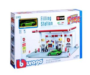Filling Petrol Station Play Set Kids Toy 1:43 Scale Including Lamborghini Car