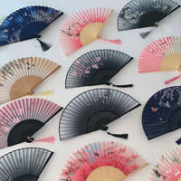 Chinese Style Dance Folding Fan Wedding Party Lace Silk Folding Hand Fan New