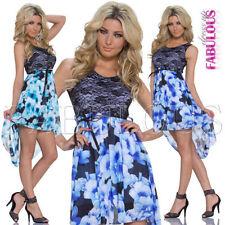 Polyester Asymmetrical Hem Unbranded Floral Dresses for Women