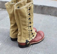 WW2 US Army BOOTS CANVAS COVER FIELD PUTTEE LEG WRAPPINGS GAITERS