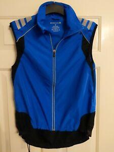 Endura Cycling Blue Wind Vest Sleeveless Jacket Gilet Size Small Reflective