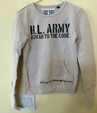 HARAJUKU Lovers Army Issue Kawaii Tan Long Sleeve Shirt Pockets Women's SMALL