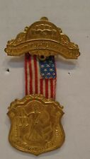 1907 Sons and Daughters Of Liberty National Council D of L Brass Medal & Ribbon