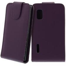 Für LG E610 Optimus L5 Handy Flip Case Tasche Hülle Schutz Lila