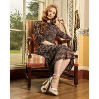Lindy Bop 'Lyla' BNWT 1950's Inspired Tea Dress Vintage Retro Lined Midi