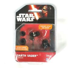 Disney Star Wars Darth Vader Ear Buds headphones with Extra Covers