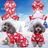 Pet Dog Pajamas Soft Cotton Snowman Pattern Cat Puppy Clothes Apparel Jumpsuit