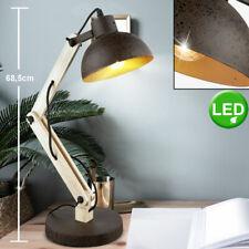 Schreib Tisch Leuchte rost Arbeits Wohn Zimmer Holz Gelenk Lampe verstellbar