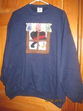 """New Woman's Blue Snowman Sweatshirt by Jerzees 2X 18-22 52"""" Bust"""