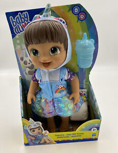 Baby Alive Tinycorns Doll, Panda Unicorn, Accessories, Drinks, Wets, Brown Hair