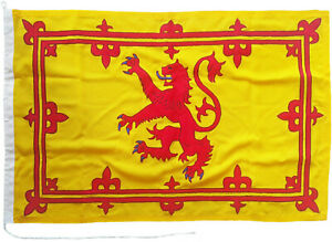 Royal Banner of Scotland Lion Rampant Scottish flag sewn stitched embroidered