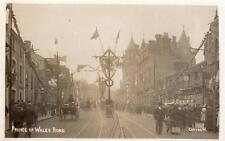 Prince of Wales Road Norwich Royal Visit ? unused RP old PC Mirror Photo  Good