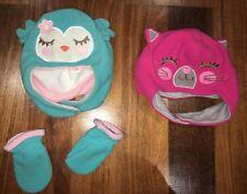 Carter's - Cat And Owl Fleece Hats (0-9 Months)