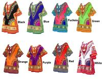 Women Traditional African Print Dashiki Dress Short Sleeve Party Shirt Dress New