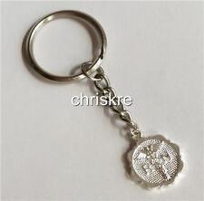 Nurse Caduceus Keychain Key Ring Handbag Charm RN Nursing Graduation Gift