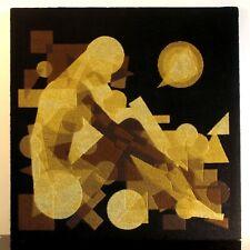 "Tapisserie canevas cinétique PATRICE ALLART ""EVE"" art optic 1970"