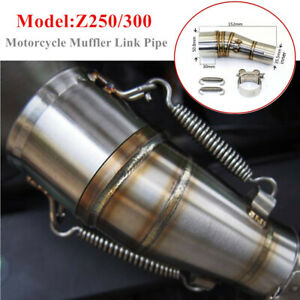 Z250/300 Motorcycle Exhaust Middle Pipe Link Muffler Mid Section Adapter Parts