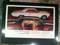 "1966 Chevrolet Chevelle Malibu Original car GM print *Ready to Display"" ad"