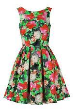 Myleene Klass Vintage Ww2 Style Floral Layered Rockabilly Dress Size's 14 16 14