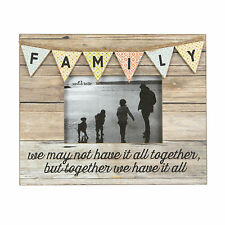 FAMILY RUSTIC BUNTING PHOTO FRAME SENTIMENTAL WORDS BY SASS & BELLE