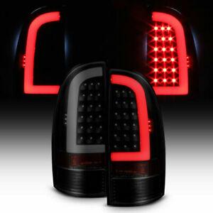 For 05-15 Toyota Tacoma LED Tail Lights Brake Lamps Black/Smoke Left+Right 2PCS