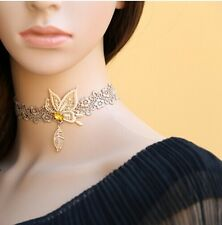 Gothic Victorian Lace Choker Necklace Flower Butterfly Decorate Collar LN001