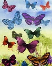 Usa - Diy Paint by Number Kit Acrylic Painting Home Decor - Bunch of Butterflies