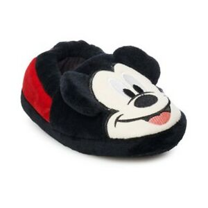 MICKEY MOUSE DISNEY JUNIOR Slippers w/ Plush Ears Toddler's Size 7/8 or 9/10 NWT