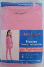 NEW Girls Thermal Underwear 2 Piece Set Shirt Pants Small 6 - 6x Pink Long Johns