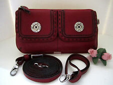 "Brighton ""SOHO"" Paprika Red Pebble Leather Pouch (MSR$94) NWT"