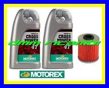 Kit Tagliando SUZUKI RM-Z 250 12>13 Filtro Olio MOTOREX 10W60 RMZ 2012 2013