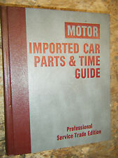 1975-1981 MOTOR'S LABOR TIME PARTS GUIDE MANUAL IMPORTED CAR FIAT TOYOTA TRIUMPH