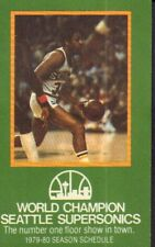 1979-80 Seattle Supersonics Basketball Schedule jhxb