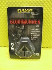 NAP BLOODRUNNER II 100 GRAIN MECHANICAL BROADHEADS 3 PACK #60-685