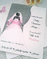 LARGE Handmade & Personalised Wedding Day WIFE-TO-BE Card