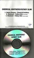 CHEMICAL BROTHERS & FATBOY SLIM Illuminati w/RARE VERSIONS PROMO DJ CD Single