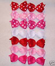 """""""14 MEDIUM/TODDLER BOUTIQUE HAIRBOWS"""" (Dots/Solids)"""