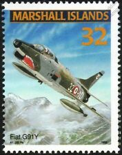 Italian Air Force FIAT G.91 / G.91Y Jet Aircraft Airplane Mint Stamp