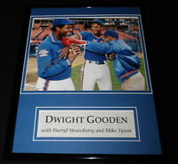 Dwight Gooden Signed Framed 11x14 Photo Display w/ Mike Tyson & D Strawberry