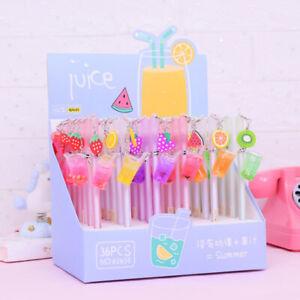 1 PC Cute Fruit Drinks Design Gel Pen Needle Pens Stationery Kids Gift^