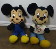 Vintage Walt Disney Mickey Mouse plush lot