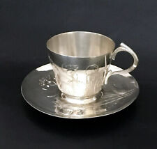 Large Art Nouveau Cup & Saucer by Gallia (Christofle) Poppy Pattern